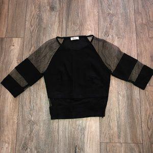 TOBI super sexy, black mesh crop top 🖤